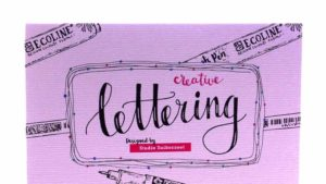 Creative Lettering oefenblok close up