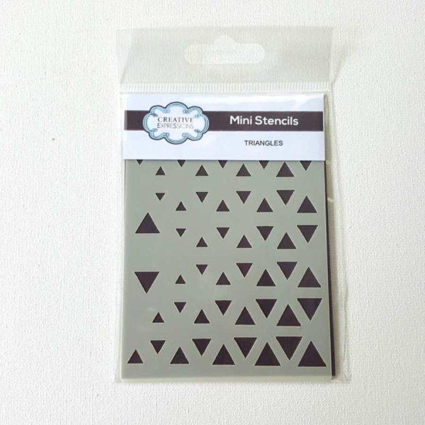 Mini stencil driehoek