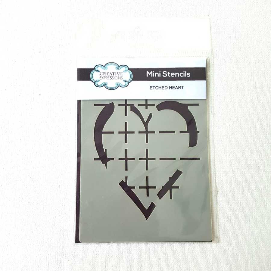 Mini stencil hart