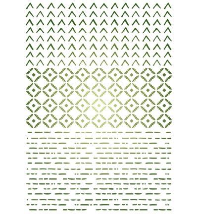 Stencil A3 driehoekjes
