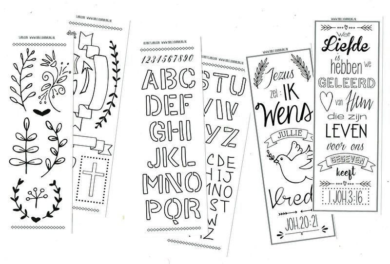 biblejournaling sjablonen teksten banners