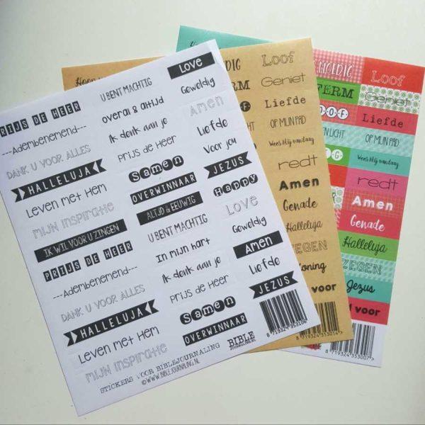 biblejournaling stickers 3 vellen