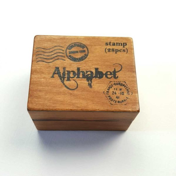 houten alfabet stempels