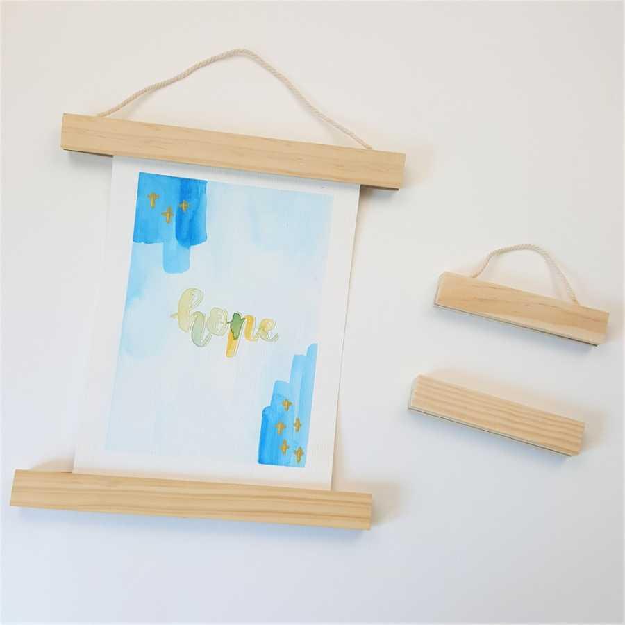 posterhangers hout 10 en 20 cm