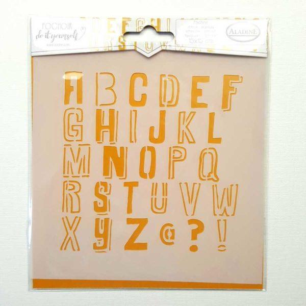 stencil 15x15 alfabet