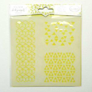 stencil 15x15 geometrie kubus