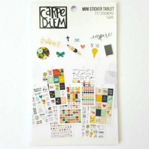 Carpe Diem sticker boek biblejournaling