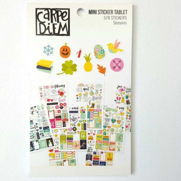 Carpe Diem stickers boek planner