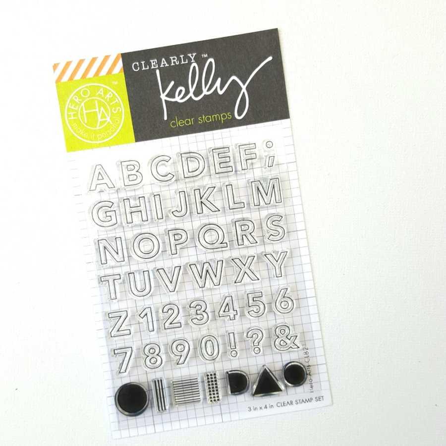 Hero Arts outline alfabet en cijfers stamps