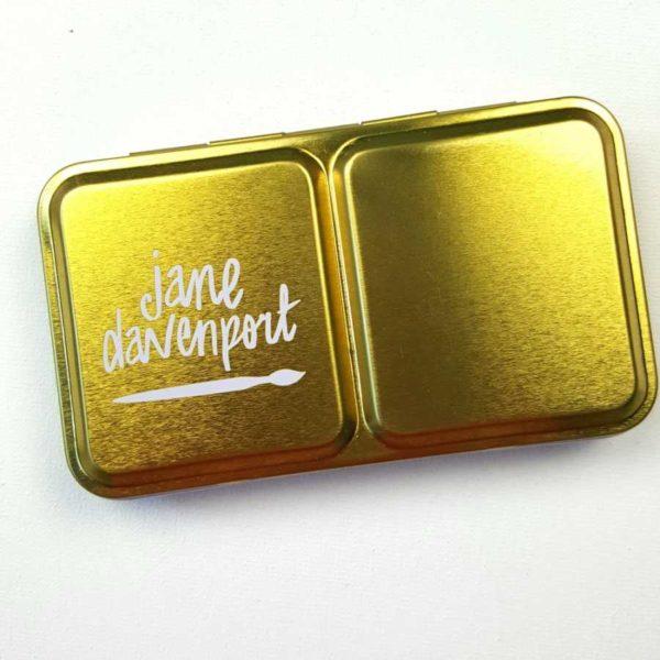 Jane Davenport watercolor neutral palet tin