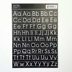 Letterstickers zwart letters