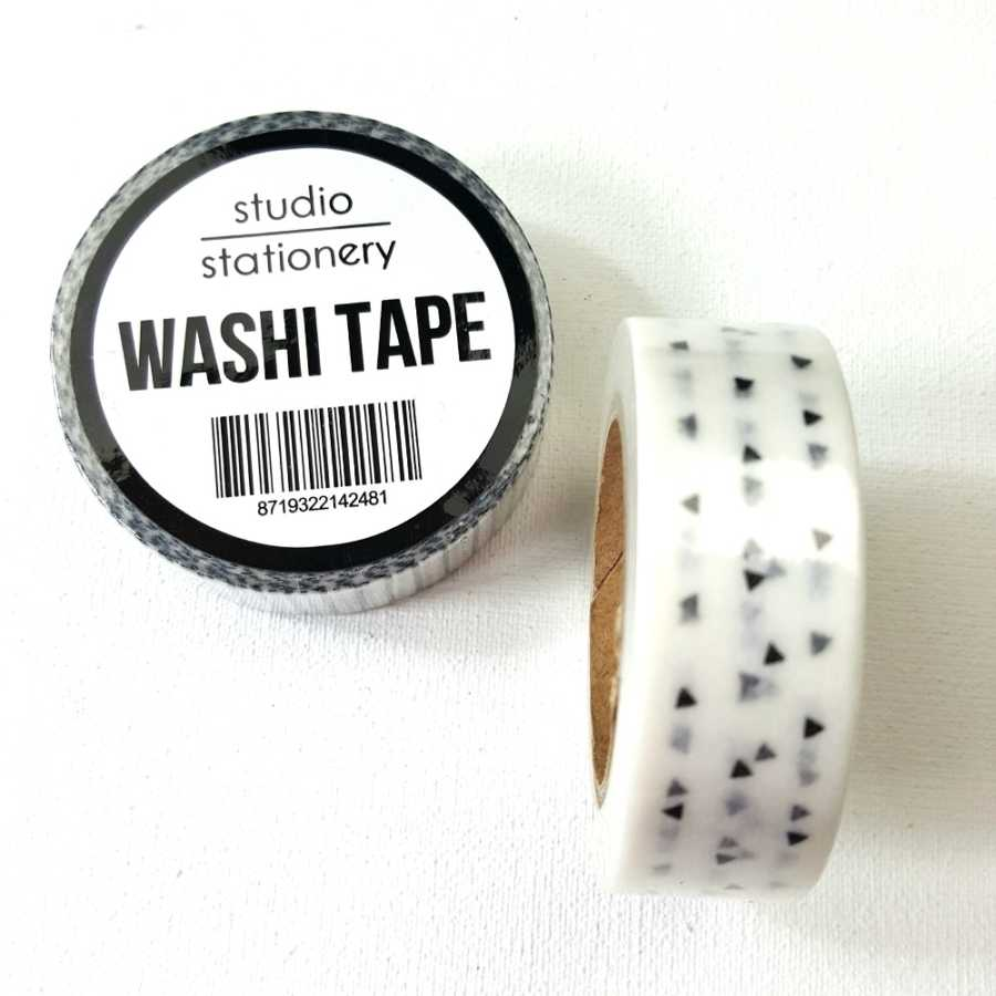 Studio Stationery zwart wit driehoekjes washi tape