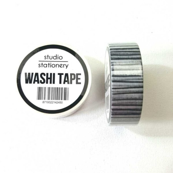 Studio Stationery zwart wit gestreept washi tape