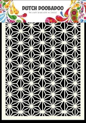 stencil geometrische sterren mixed media biblejournaling