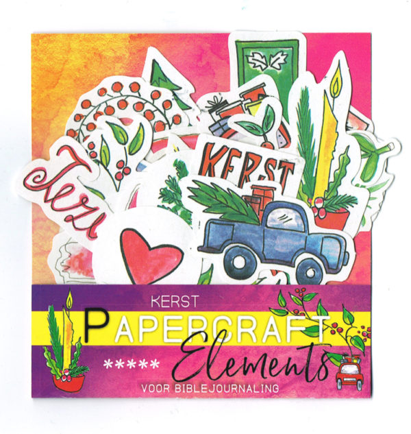 Kerst papercraft elements