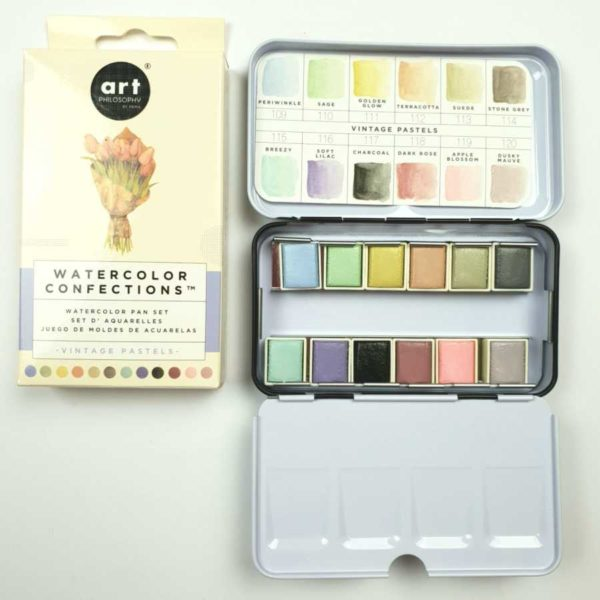 prima marketing watercolor confections vintage pastels