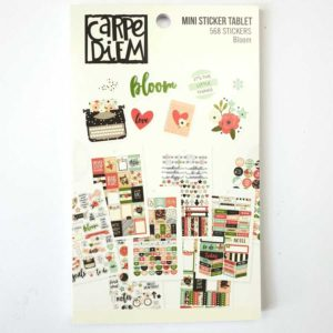 Stickerboek bulletjournaling bloom Carpe diem