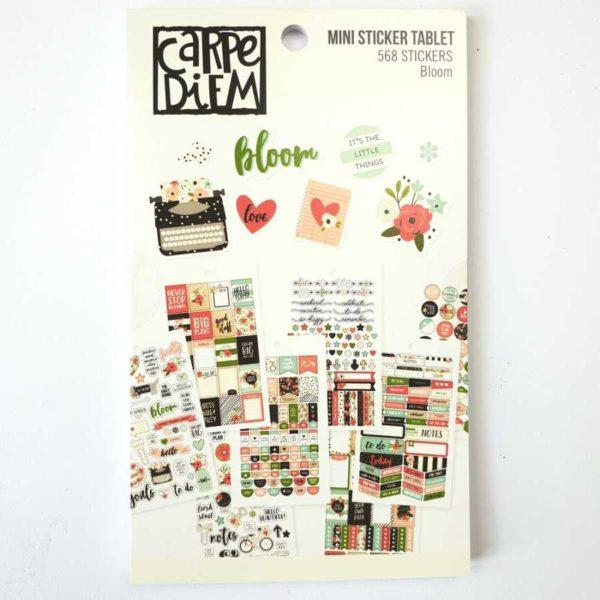 Stickerboek bulletjournaling bloom Carpe diem