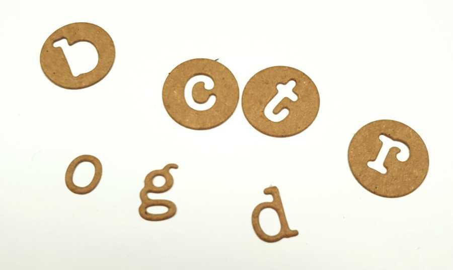 Sizzix thinlits alfabet Dainty