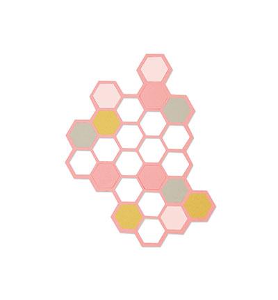Sizzix thinlits hexagons dies