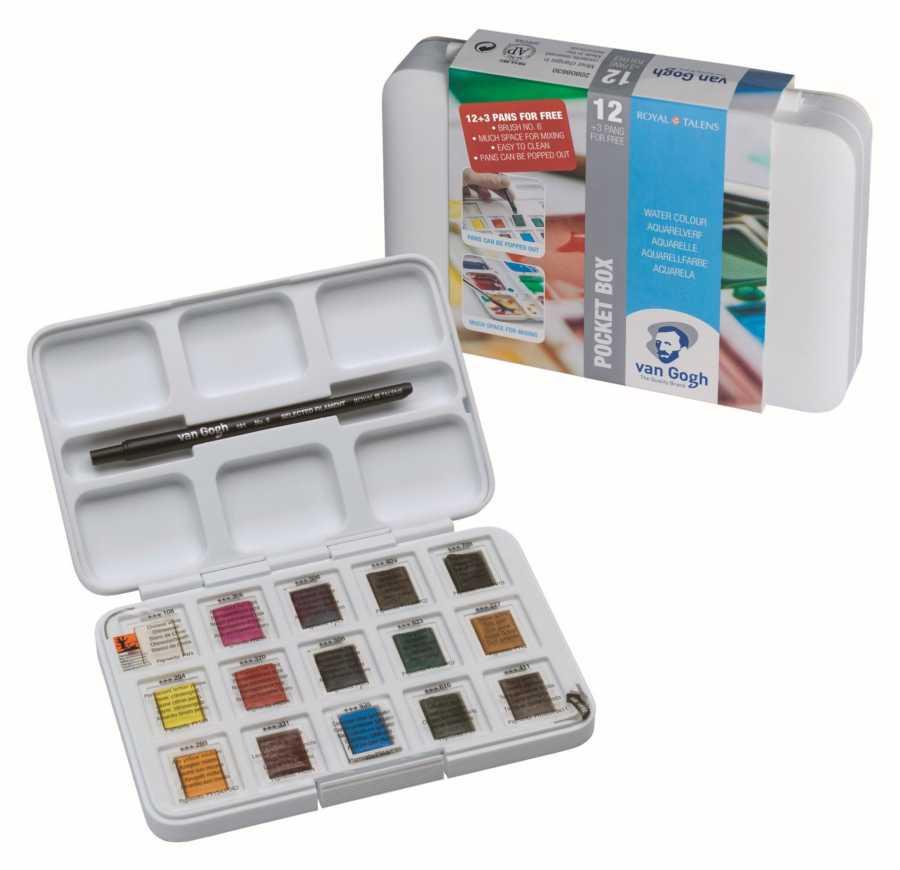 Pocket box van gogh watercolor