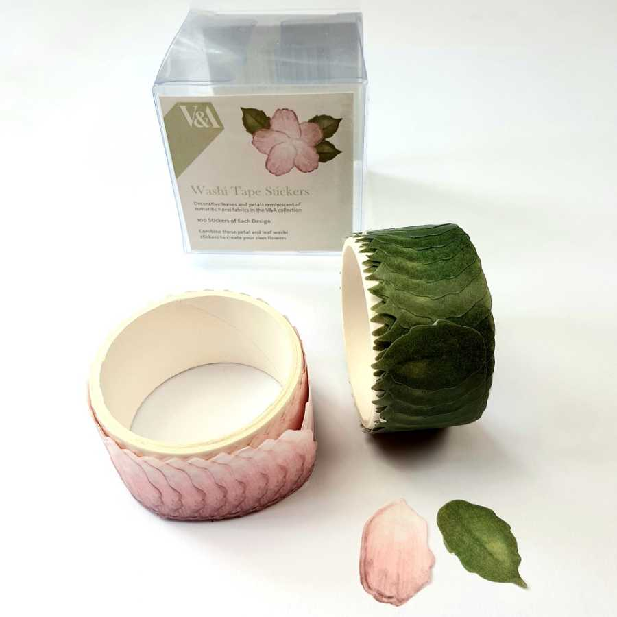 Flower washi stickers oud roze