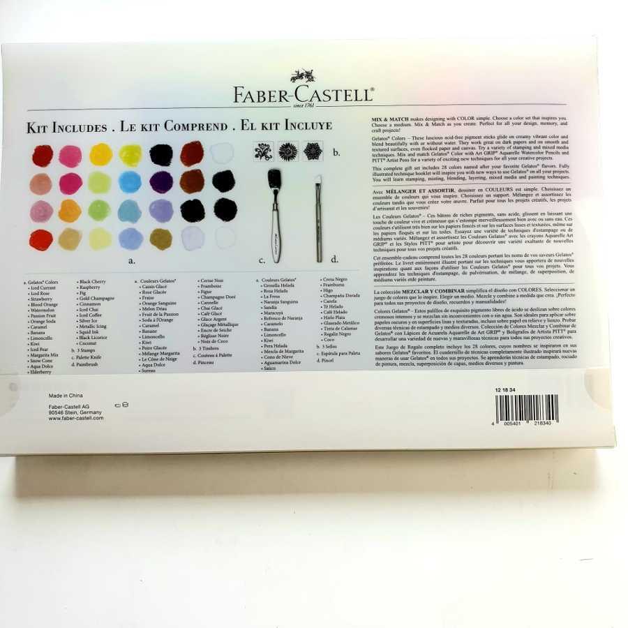 Gelatos 24 stuks Faber Castell achterkant