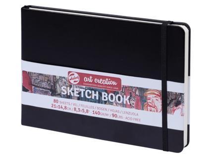 Sketchbook 21x14,8 Talens zwart