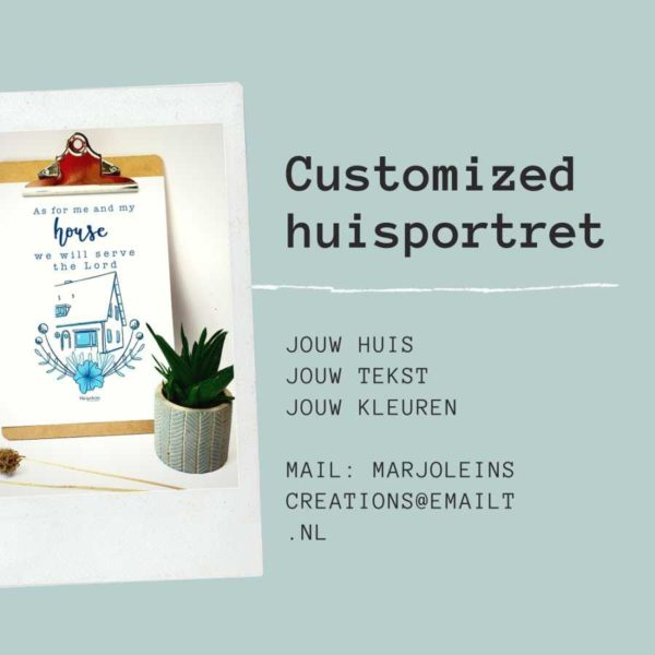 Customized huisportret Marjoleins Creations