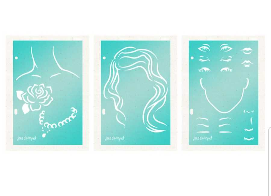 Jane Davenport foundation layer set stencils