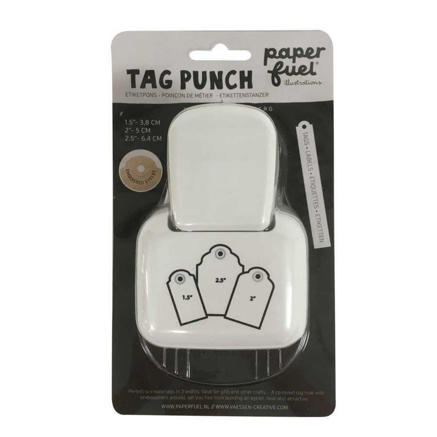 Paperfuel tag pons punch etiketpons