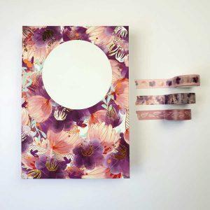 Bulletjournal gouden lijntjes roze bloemen