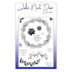 Clear stamps john next door build a wreath