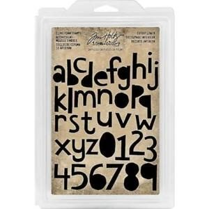 Tim Holtz Cling foam stamps cutout lower case