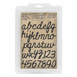 Tim Holtz Cling foam stamps cutout script letters