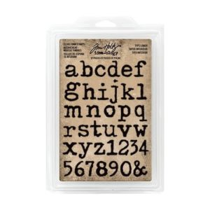 Tim Holtz Cling foam stamps cutout typewriter