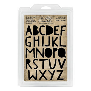 Tim Holtz Cling foam stamps cutout upper case