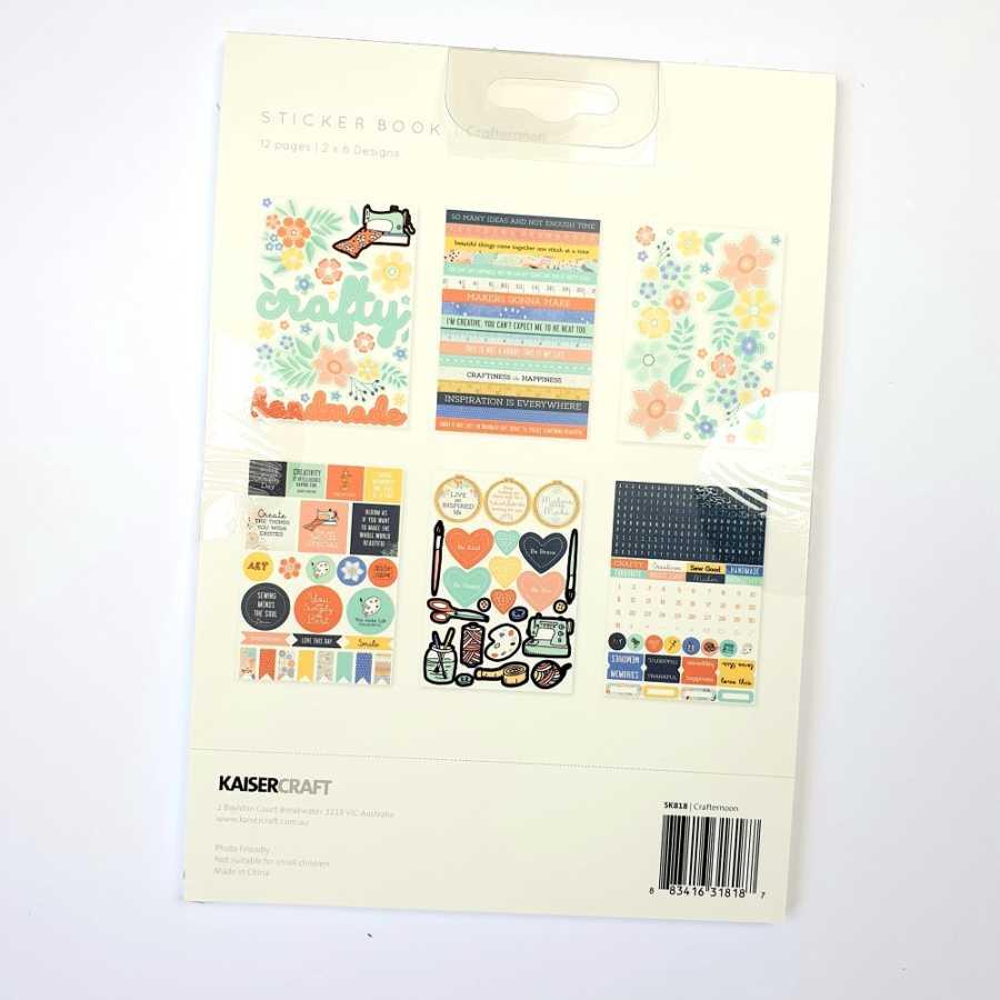 Crafternoon Kaisercraft sticker book binnenkant