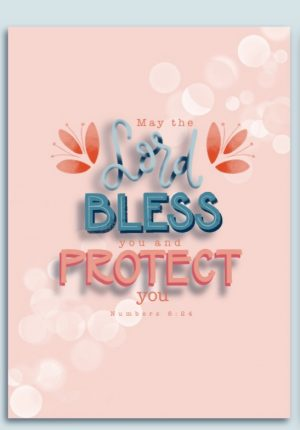 Ansichtkaart 'Bless'