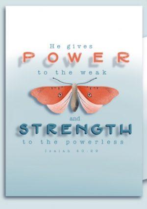 Ansichtkaart 'Power'