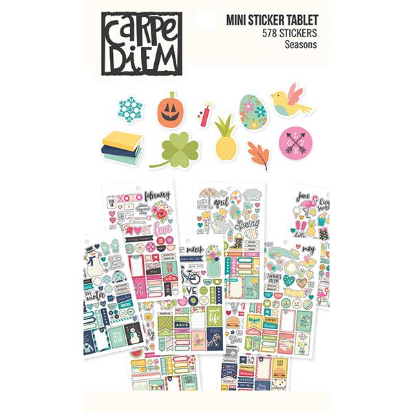 carpe diem stickerboek voorkant seasons