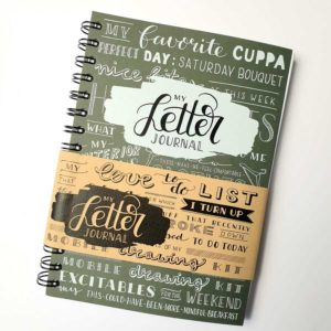 Letter journal olive green karlijn van de wier