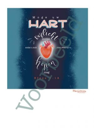 Poster Efeze 1:18 Moge uw hart verlicht worden...