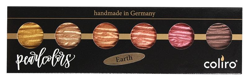Coliro Pearl Color set 6 colors earth verpakking