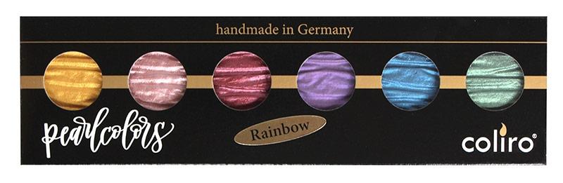 Coliro Pearl Color set 6 colors rainbow verpakking
