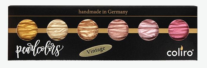Coliro Pearl Color set 6 colors vintage verpakking