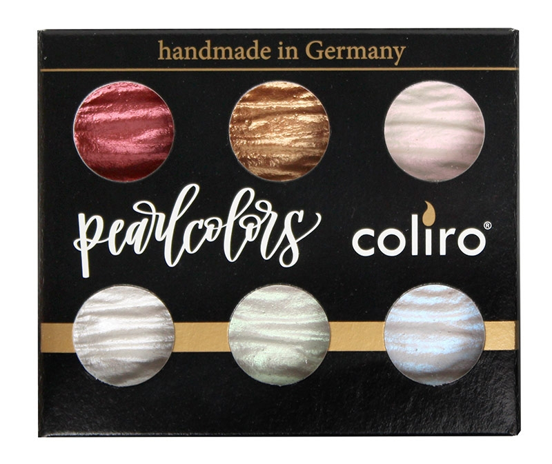 Coliro Pearl Color travelset 6 colors verpakking