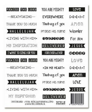 Stickers voor biblejournaling wit