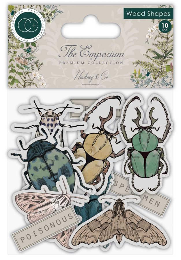craft consortium wood shapes insecten