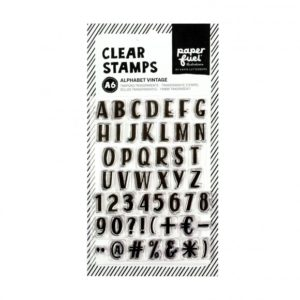 paperfuel clearstamps alphabet vintage